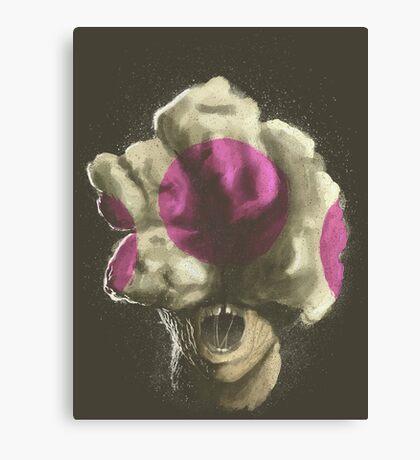 Mushroom Kingdom clicker [Pink] - Mario / The Last of Us Canvas Print