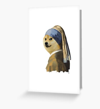Doge painting Greeting Card