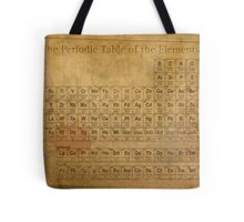 Periodic Table of the Elements Vintage Chart on Worn Stained Distressed Canvas Tote Bag