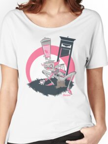 Mad Hatter Tea Party Graffiti Character Women's Relaxed Fit T-Shirt