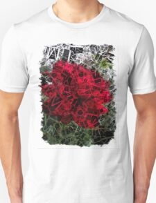 Red Rose Edges Letters 2 Unisex T-Shirt
