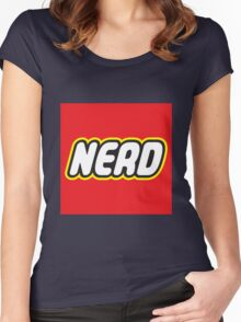 Playful Nerd  Women's Fitted Scoop T-Shirt