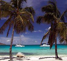 Carribean Beach Scene by Oldetimemercan