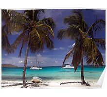 Carribean Beach Scene Poster