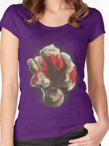 Mushroom Kingdom clicker [Blood Red] - Mario / The Last of Us Women's Fitted Scoop T-Shirt