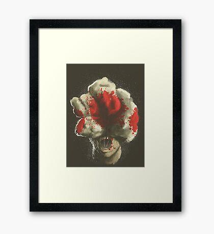 Mushroom Kingdom clicker [Blood Red] - Mario / The Last of Us Framed Print