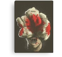 Mushroom Kingdom clicker [Blood Red] - Mario / The Last of Us Canvas Print