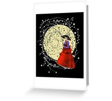 Girl In Flowers Greeting Card