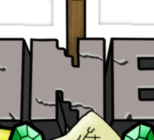 Minecraft Miner Shirt Sticker