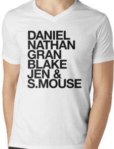 Angry Boys Character Tee Shirt Mens V-Neck T-Shirt