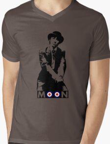 Moon the Loon Mens V-Neck T-Shirt
