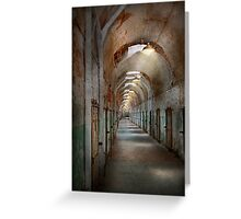 Jail - Eastern State Penitentiary - Endless torment Greeting Card