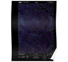 USGS Topo Map  Vermont VT Sterling Mountain 20120712 TM Inverted Poster