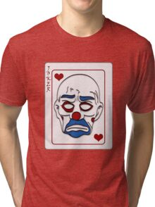 Joker Calling Card - Hand Drawn Tri-blend T-Shirt