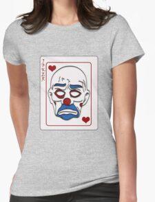 Joker Calling Card - Hand Drawn Womens Fitted T-Shirt