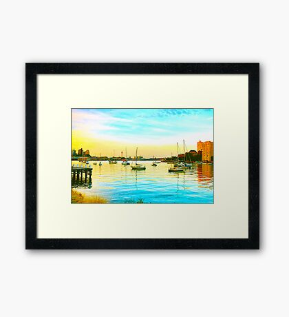 Lavender Bay The Other Day Framed Print