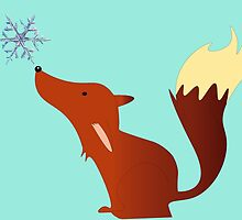Foxy the fox - snowflake by TJ1210Althea
