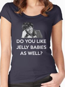 TOM BAKER JELLY BABIES Women's Fitted Scoop T-Shirt