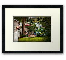 Flower - Westfield, NJ - Private paradise Framed Print