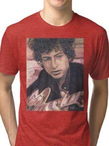 BOB DYLAN PORTRAIT IN INK Tri-blend T-Shirt