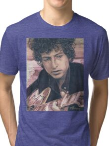 BOB DYLAN PORTRAIT IN INK Tri-blend T-Shirt