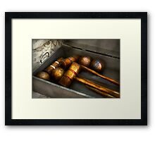 Game - Everyone loves to play Croquet   Framed Print