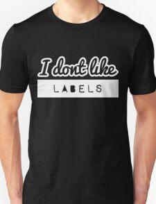 I don't like LABELS [Wht] | FreshTS T-Shirt