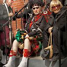 Music - Bag Pipes - Somerville, NJ - Piper resting by Mike  Savad
