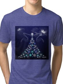 Christmas Tree and Space Tri-blend T-Shirt