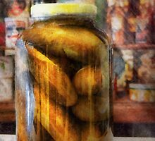 Food - Vegetable - A jar of pickles by Mike  Savad