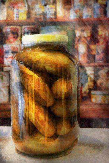 Food - Vegetable - A jar of pickles by Mike  Savad