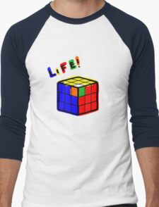 life is a rubiks cube Men's Baseball ¾ T-Shirt