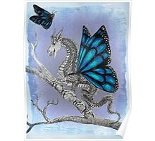 Butterfly Dragon Poster