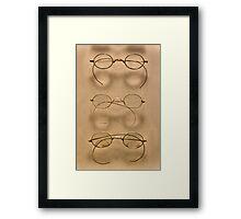 Optometrist - Simple gold frames Framed Print