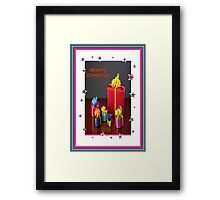 Merry Christmas Gift Boxes Holiday Card Framed Print