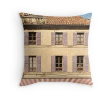 Purple shutters - Arles, Provence Throw Pillow