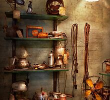Repair - In the corner of a repair shop by Mike  Savad