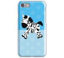 Sweet Cute Zebra Blue Dot iPhone Case iPhone Case/Skin