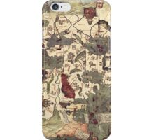 Medieval Old Map iPhone Case/Skin