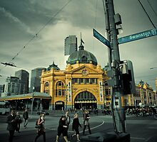 Flinders St Morning by Andrew Wilson