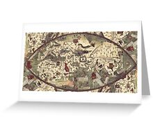 Medieval Old Map Greeting Card