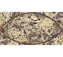 Medieval Old Map Photographic Print