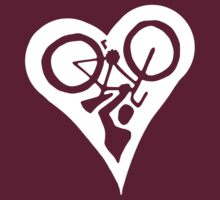 Bicycle inside Love Heart (dark) by KraPOW