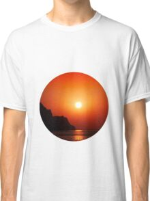 Sunset at the sea Classic T-Shirt