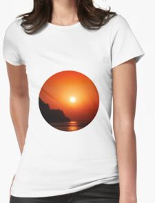 Sunset at the sea Womens Fitted T-Shirt