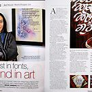 URBAN MELANGE!...A lifestyle magazine covers about calligraphy by Kamaljeet! by Kamaljeet Kaur
