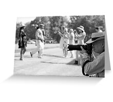 WHO is taking a picture of WHO!! Greeting Card