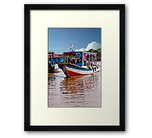 Cambodian Water Taxi Framed Print