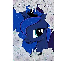 Luna with moon flowers  Photographic Print