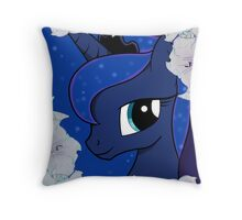 Luna with moon flowers  Throw Pillow